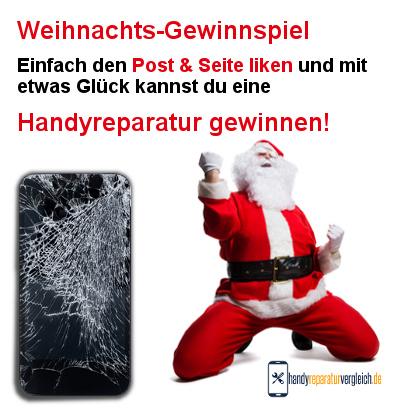 Weihnachts-Gewinnspiel bei Handyreparaturvergleich.de